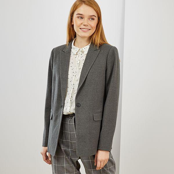 mărci de top neînvins x cel mai bun site web Chaqueta blazer Mujer talla 34 a 48 - gris chiné - Kiabi - 25,00€