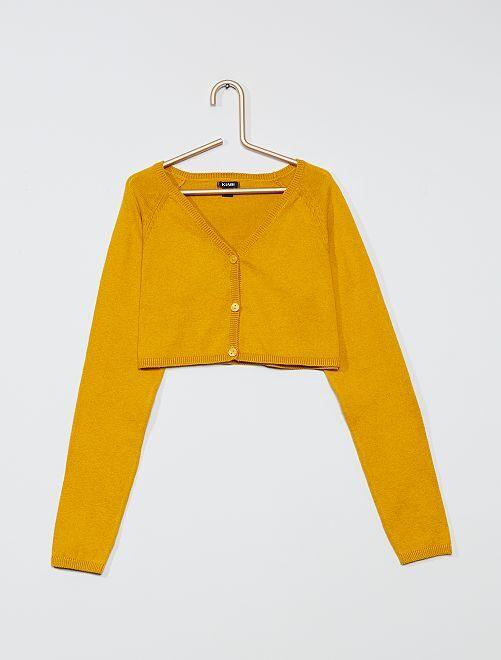 Chaqueta bolero con 3 botones                                                     amarillo bronce