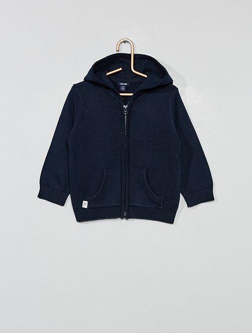Chaqueta con capucha                             azul