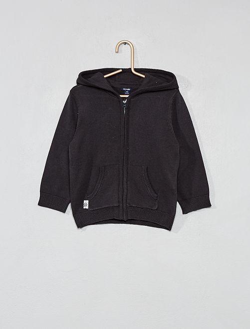 Chaqueta con capucha                                                                 gris oscuro Bebé niño