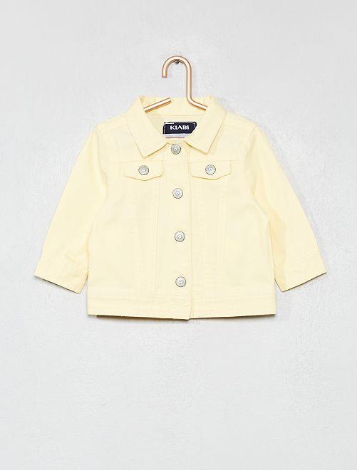 Chaqueta de algodón abotonada                                         amarillo Bebé niña