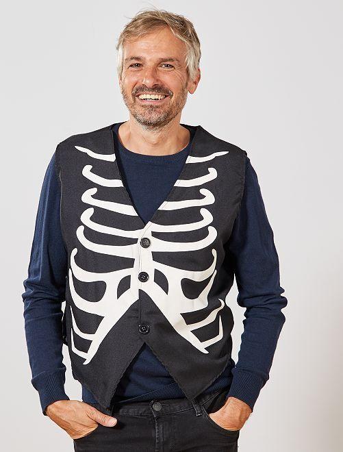 Chaqueta de esqueleto                             negro/blanco