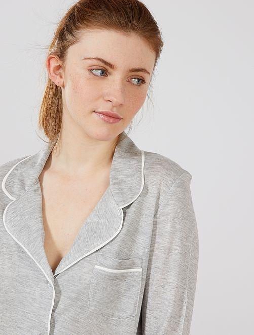 Chaqueta de pijama                                                                 GRIS Lencería de la s a la xxl