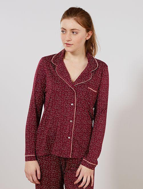 Chaqueta de pijama                                                                 ROJO Lencería de la s a la xxl