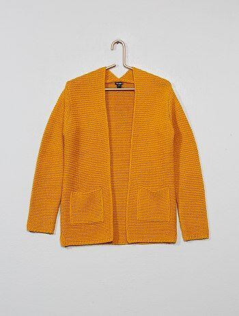 18aebc74aafc Jerséis y chaquetas de punto Chica | amarillo | Kiabi