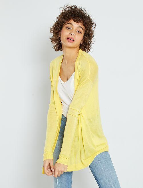 Chaqueta de punto fino                                                                 amarillo