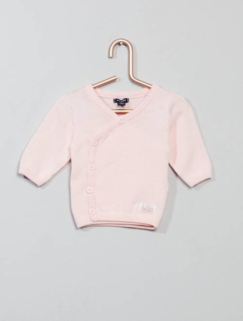 Chaqueta de punto fino                                         ROSA Bebé niña
