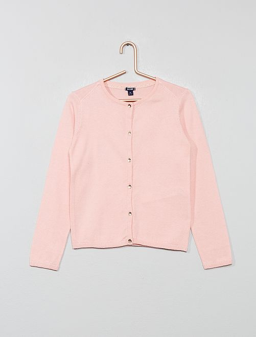 Chaqueta de punto fino                                                                                                     rosa