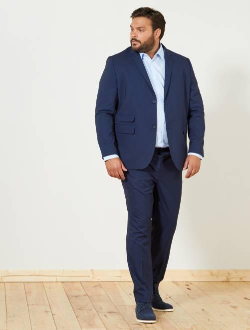 Chaqueta de traje caviar recta                             azul marino Tallas grandes hombre