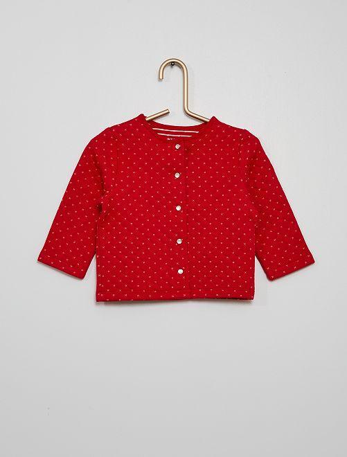 Chaqueta estilo acolchado con motivo                                         rojo cereza