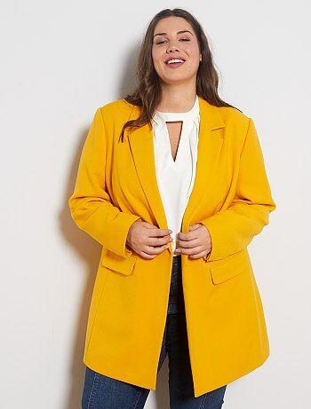 Abrigos Mujer Amarillo Kiabi
