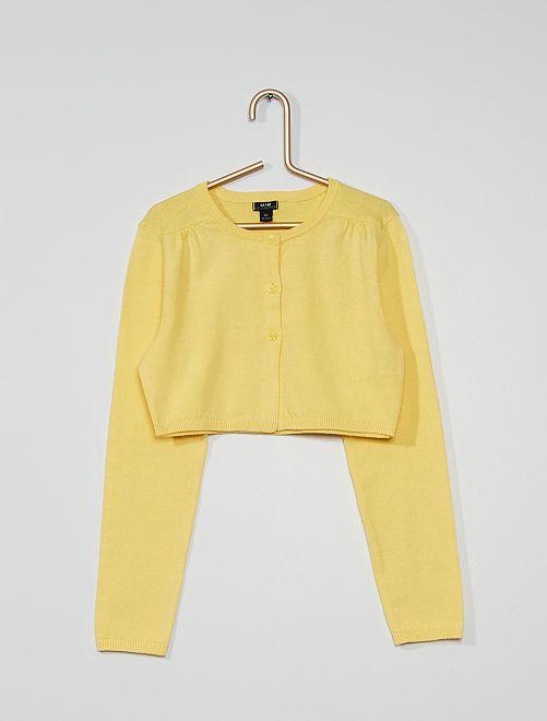 Chaqueta tipo bolero eco-concepción                                                                 amarillo suave