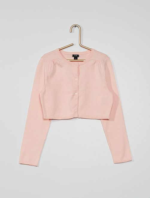 Chaqueta tipo bolero eco-concepción                                                                 rosa claro