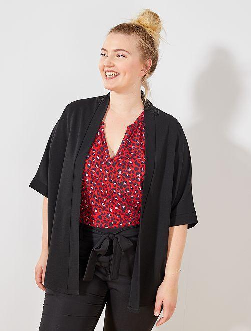 Chaqueta tipo kimono                             negro