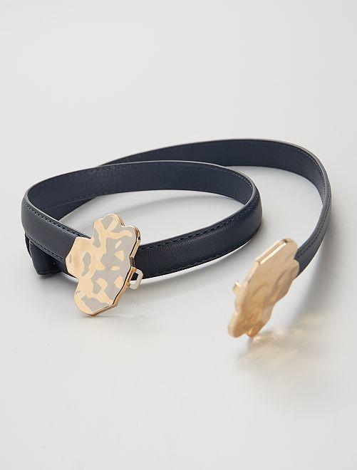 Cinturón con cierre joya                             azul