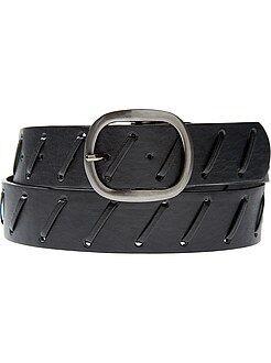 Mujer Cinturón con grandes pespuntes