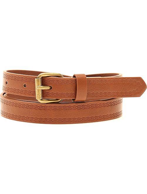 Cinturón con motivo en relieve                                         beige Mujer talla 34 a 48