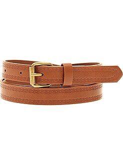Mujer - Cinturón con motivo en relieve - Kiabi