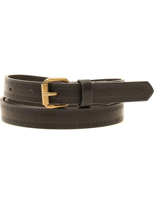 Cinturón con motivo en relieve                                         negro Mujer talla 34 a 48