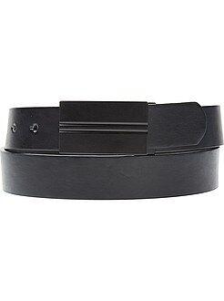 Hombre Cinturón con placa mate