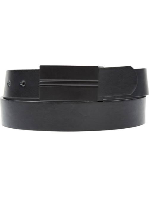 Cinturón con placa mate                             negro