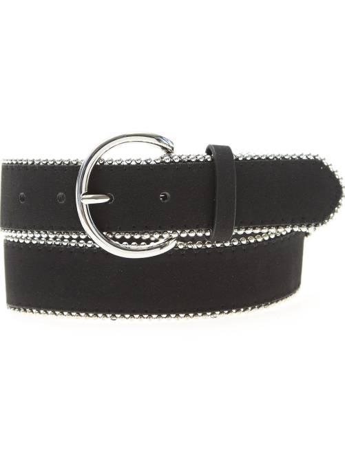 Cinturón de antelina                             negro