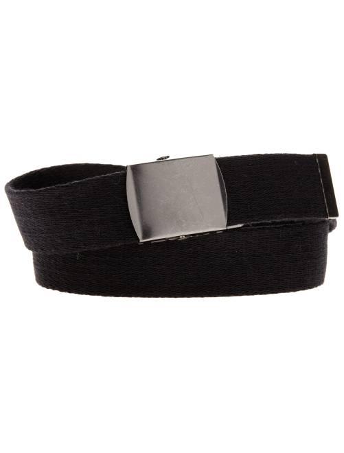 Cinturón de lona con hebilla de metal                             negro