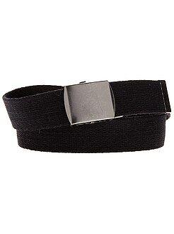 Niño 10-18 años Cinturón de lona con hebilla de metal