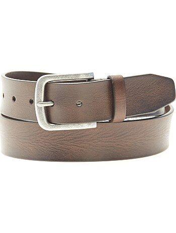 Cinturón de piel - Kiabi