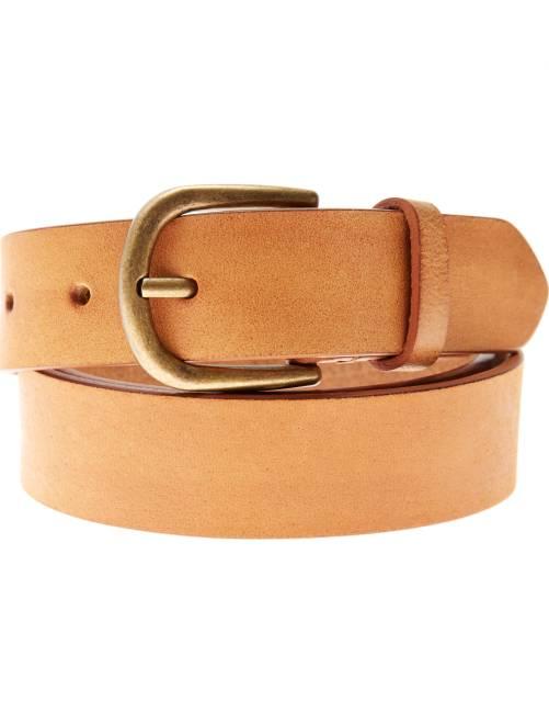 Cinturón de piel                             camello