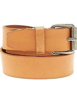 Hombre - Cinturón de piel marrón - Kiabi