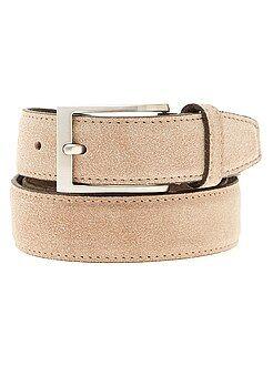 Hombre - Cinturón de piel - Kiabi