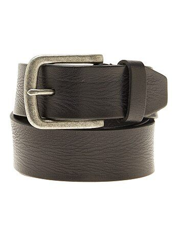 Hombre talla S-XXL - Cinturón de piel - Kiabi