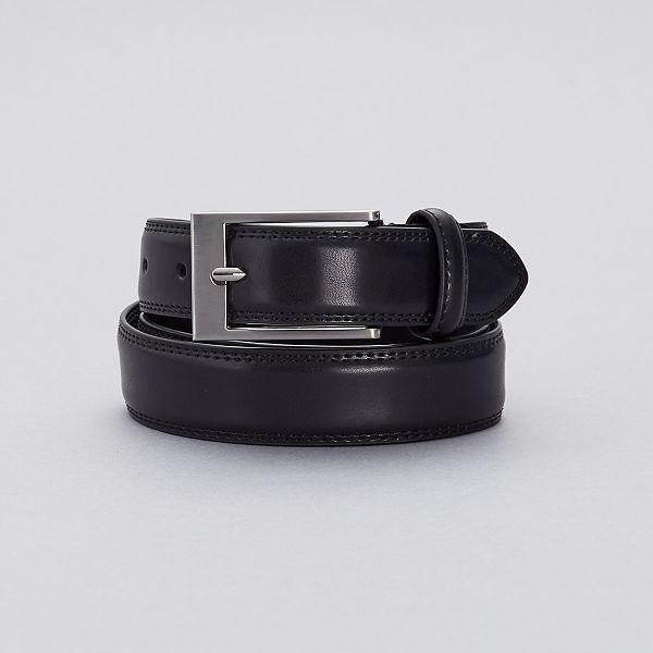 Cinturon De Piel Tallas Grandes Hombre Negro Kiabi 13 00