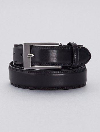 c5582db3c Hombre talla S-XXL - Cinturón de piel - Kiabi