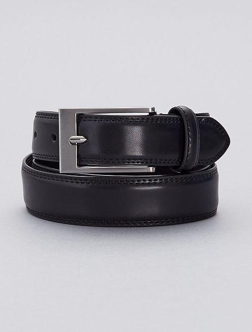 Cinturón de piel                             negro Tallas grandes hombre