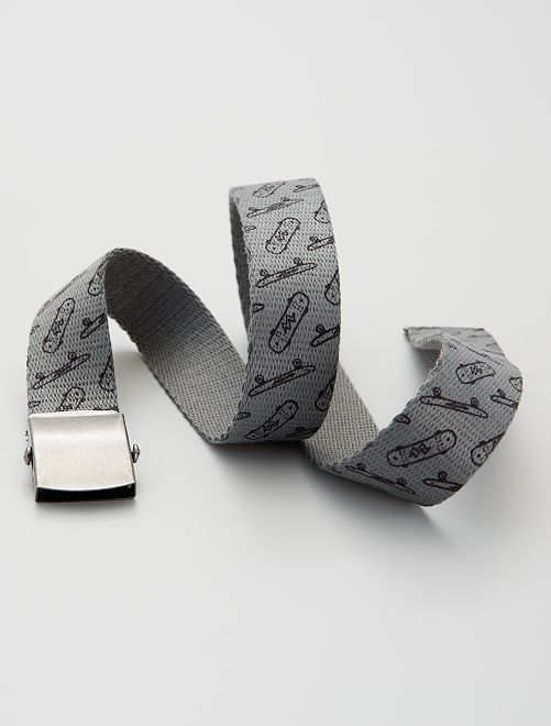 Cinturón de tela                             gris oscuro
