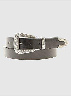 Mujer Cinturón estilo western de piel sintética