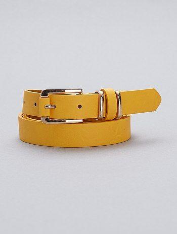 Mujer talla 34 a 48 - Cinturón fino de polipiel - Kiabi 72467aa60598