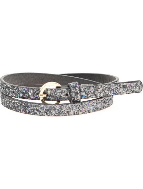 Cinturón fino 'glitter'                             negro Chica
