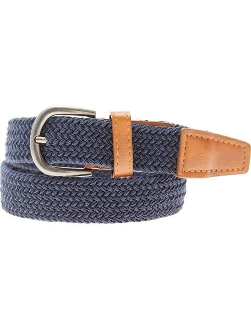 Cinturón fino trenzado                                         azul
