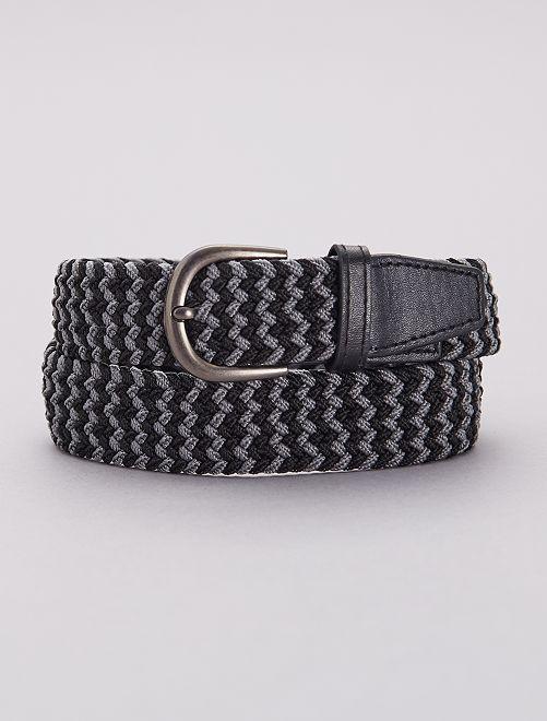 Cinturón fino trenzado                                                     gris