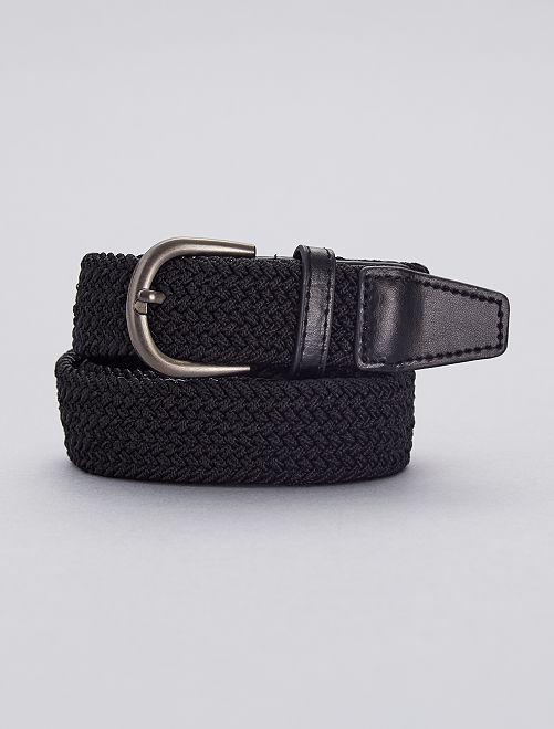Cinturón fino trenzado                                         negro