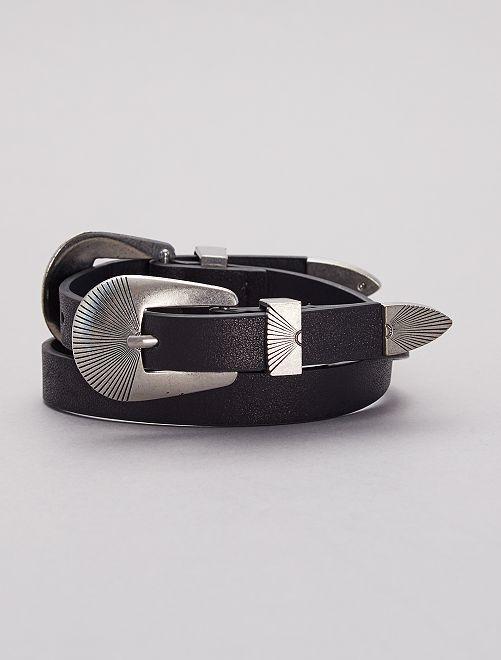 Cinturón hebilla doble                             negro