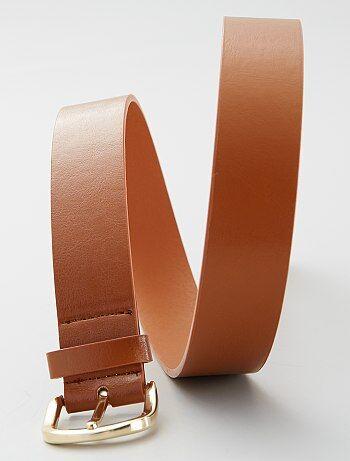Cinturón liso básico                                         camello Mujer