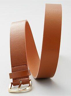 Cinturón liso básico