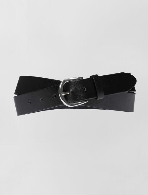 Cinturón liso básico                             negro