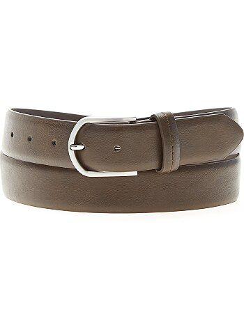 Cinturón liso de piel sintética - Kiabi