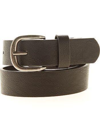 Hombre talla S-XXL - Cinturón liso de piel sintética - Kiabi