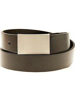 Accesorios - Cinturón liso de piel sintética